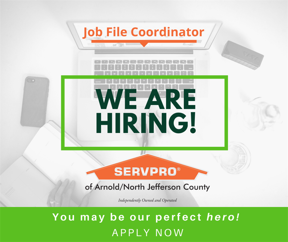 Now Hiring Job File Coordinator Flyer